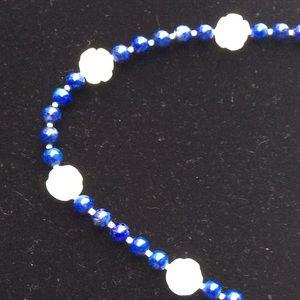 Jewelry - Artisan afghan lapis lazuli rose quartz necklace